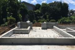 新座の家 基礎工事