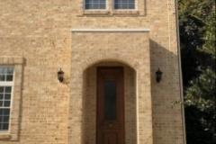 新座の家。はちみつ色のレンガの外壁。重厚ながらも明るい仕上がりとなりました。